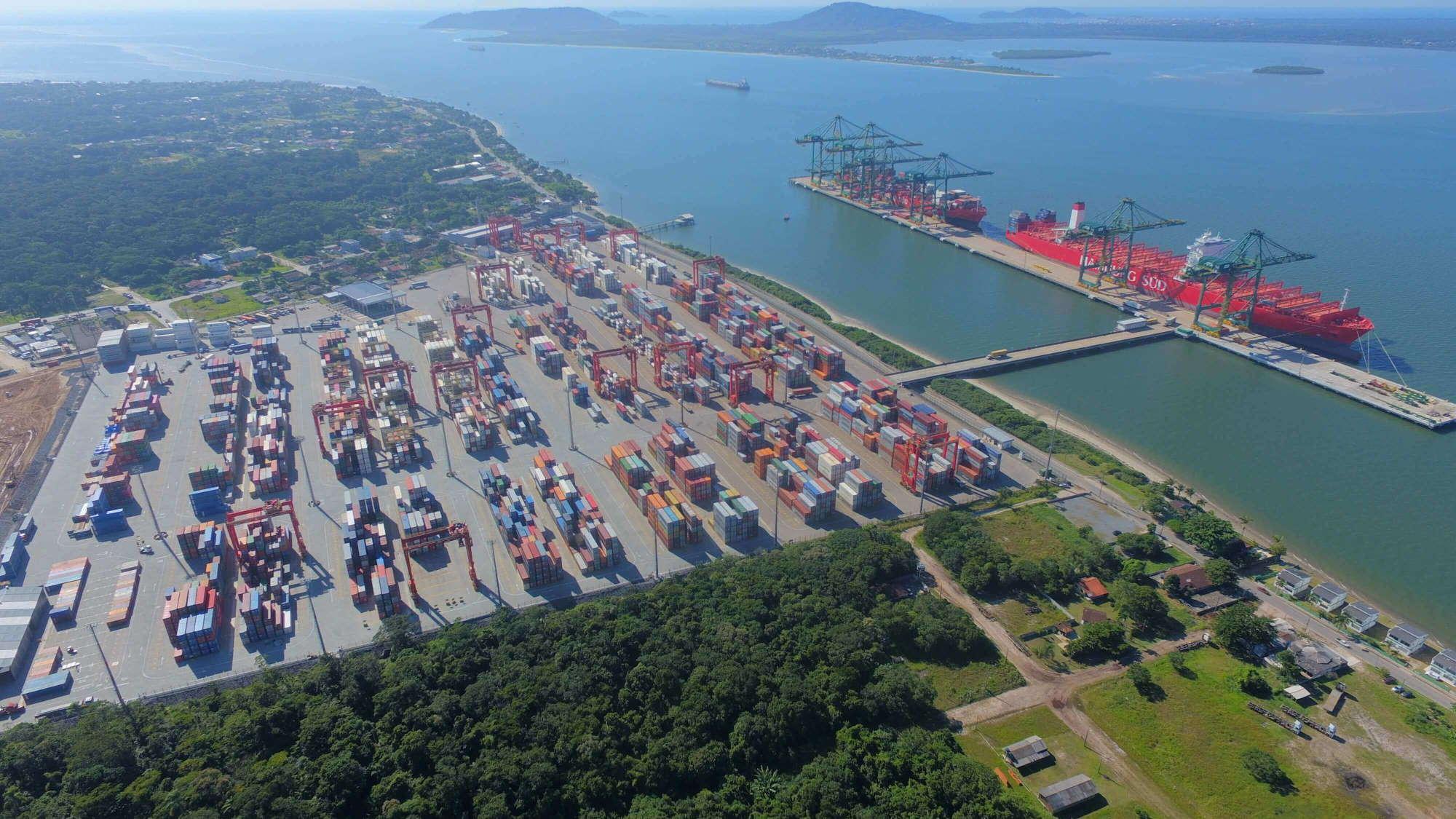 Linhas de Navegação - Porto Itapoá - SC